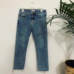 Acne Studios Light Wash Raw Ankle Hem Jeans